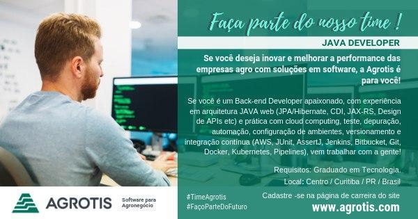 Vaga Java Developer