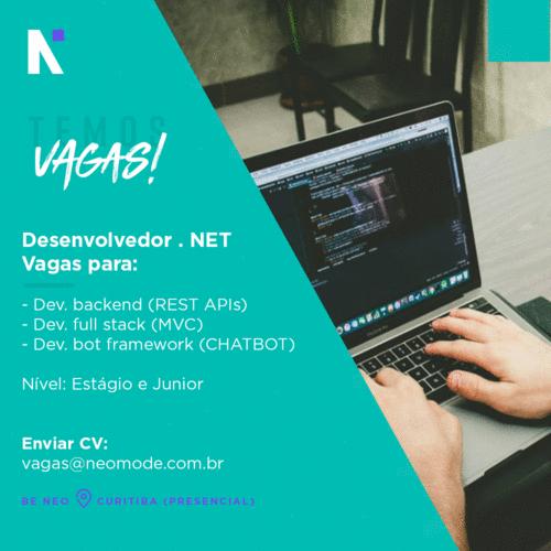 Vagas - Dev .net Curitiba